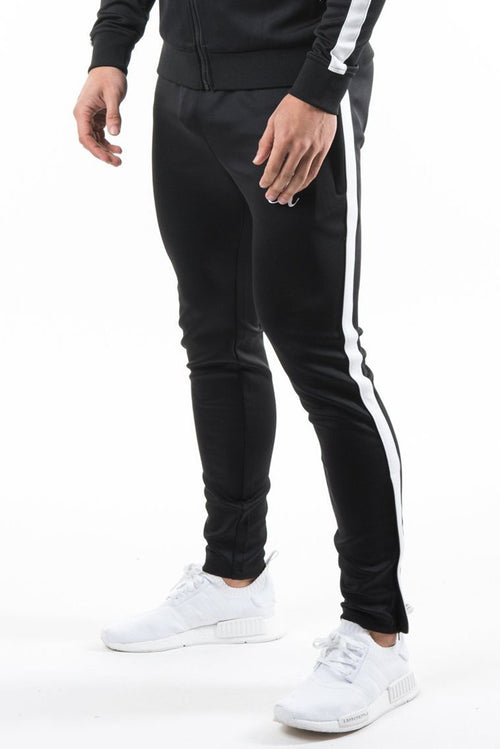 Gym King Poly Tracksuit Bottoms Black / White