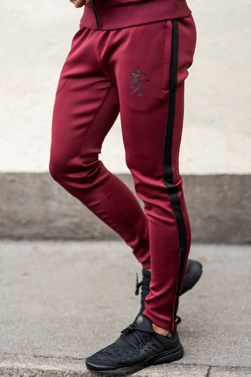 Gym King Poly Tracksuit Bottoms Cordovan