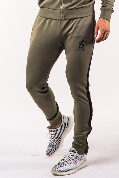 Gym King Poly Tracksuit Bottoms Khaki