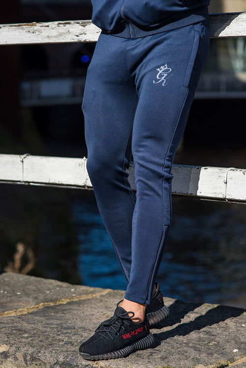 Gym King Poly Tracksuit Bottoms Navy - Navy