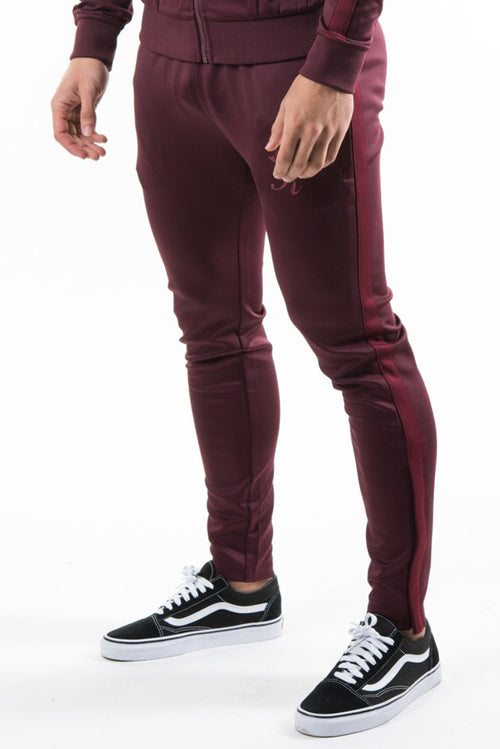 Gym King Poly Tracksuit Bottoms Wine / Burgundy