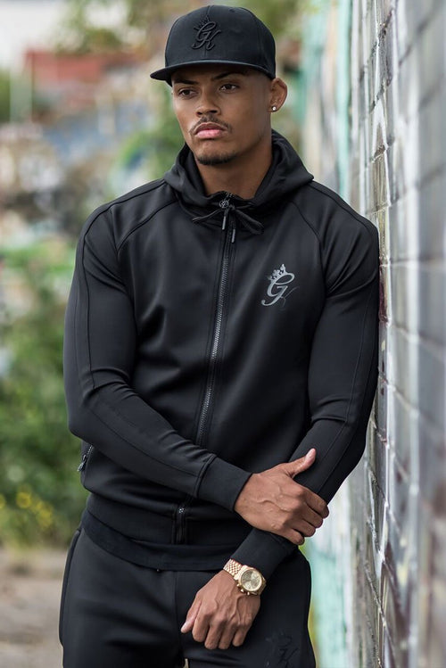Gym King Poly Tracksuit Top Black