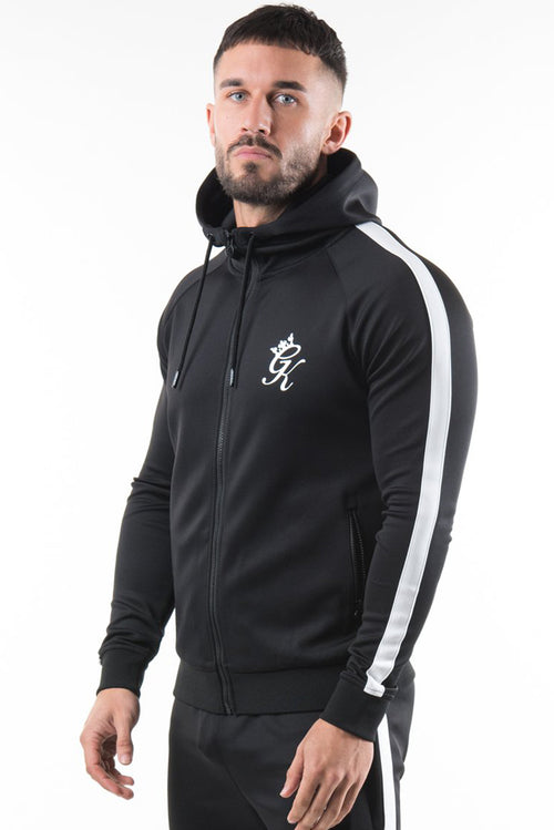 Gym King Poly Tracksuit Top Black / White