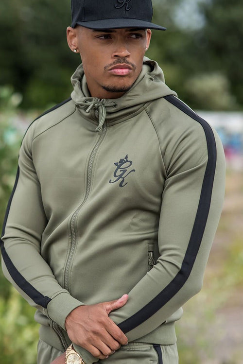 Gym King Poly Tracksuit Top Khaki