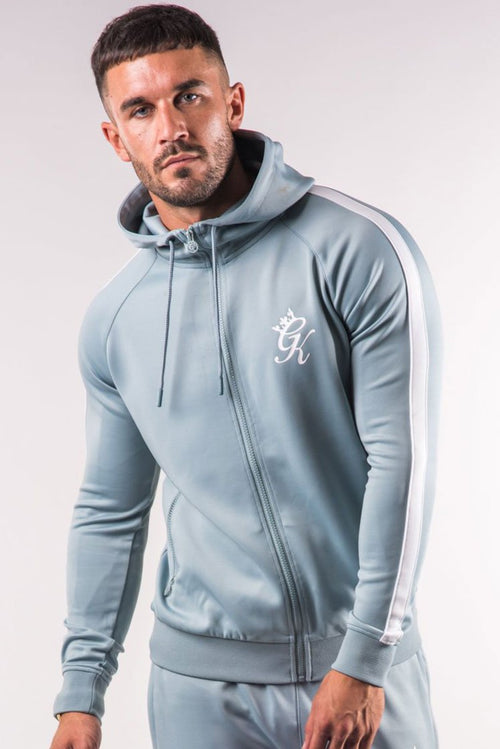 Gym King Poly Tracksuit Top Mirage Blue