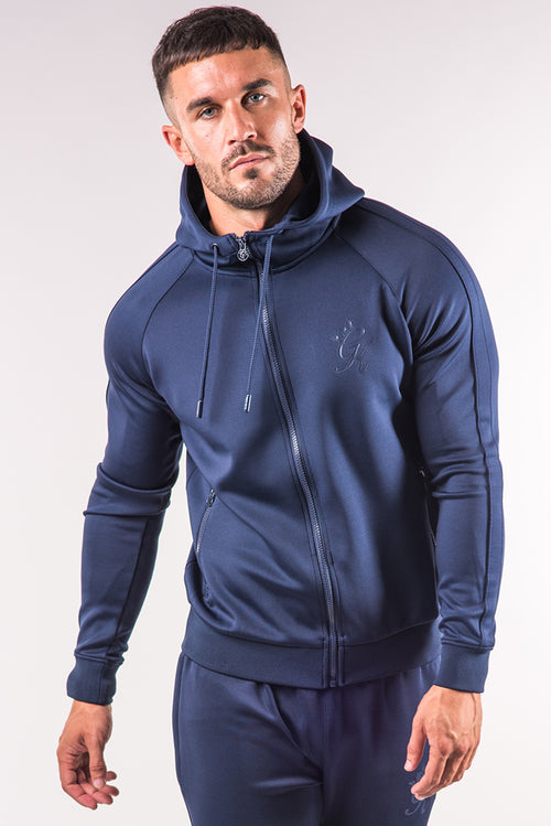 Gym King Poly Tracksuit Top Navy - Navy