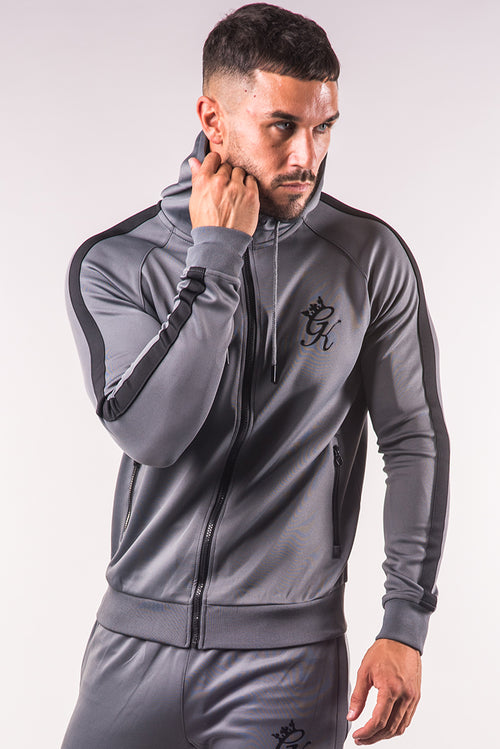 Gym King Poly Tracksuit Top Steel