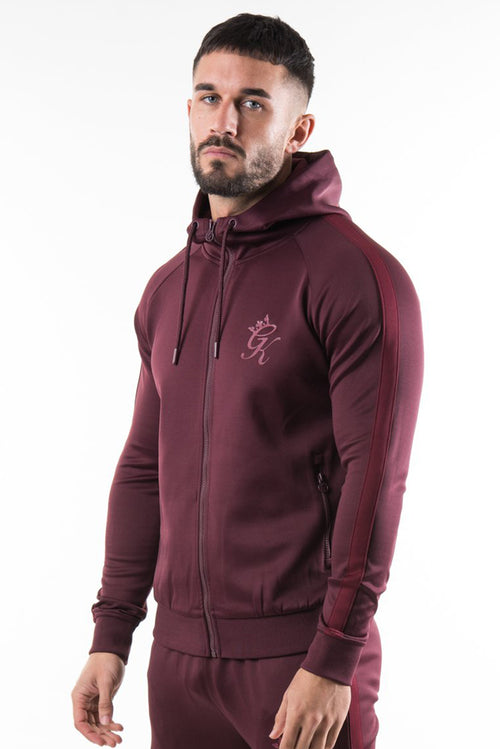Gym King Poly Tracksuit Top Wine / Burgundy