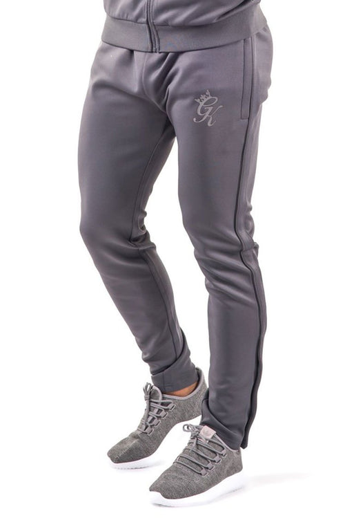 Gym King Reflective Poly Tracksuit Bottoms Dark Grey / Sleet
