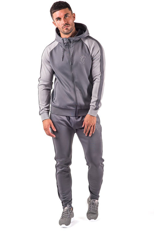 Gym King Reflective Poly Tracksuit Top Dark Grey / Sleet