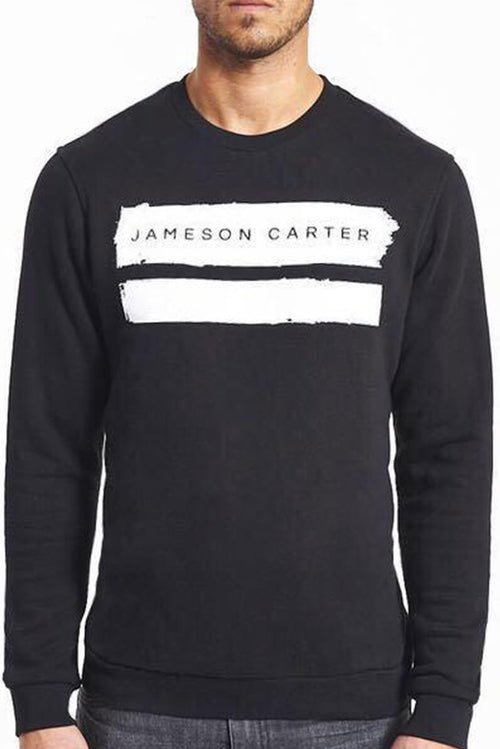 Jameson Carter Paint Stripe Sweatshirt Black