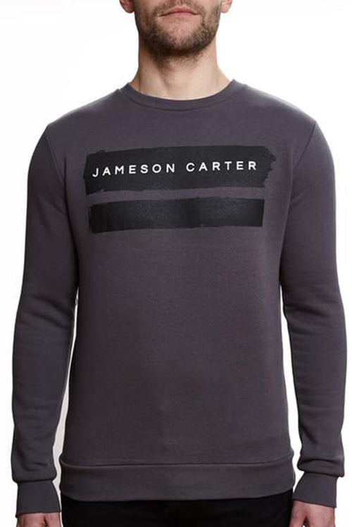Jameson Carter Paint Stripe Sweatshirt Carbon