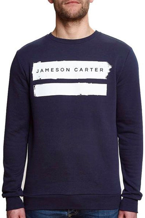 Jameson Carter Paint Stripe Sweatshirt Navy