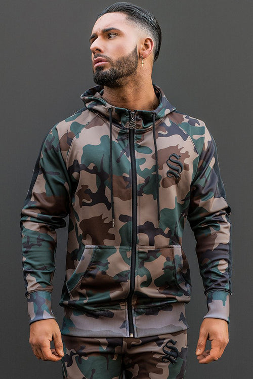 Sinners Attire Poly Tracksuit Hoodie Camo