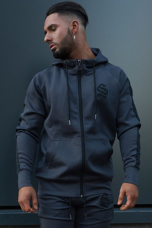 Sinners Attire Poly Tracksuit Hoodie Charcoal / Black