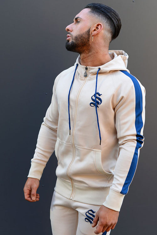 Sinners Attire Poly Tracksuit Hoodie Sand / Navy