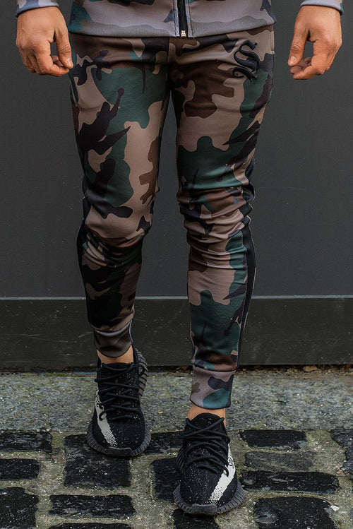 Sinners Attire Poly Tracksuit Joggers Camo