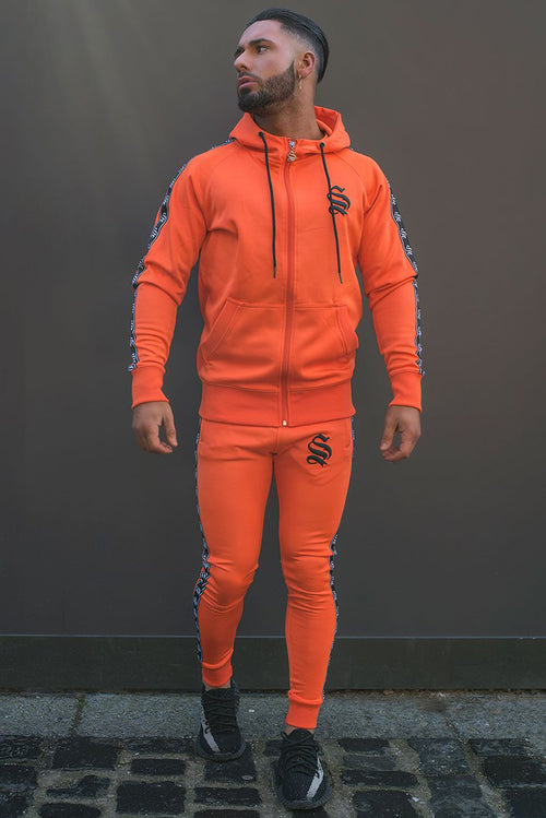 Sinners Attire Poly Tracksuit Joggers Orange