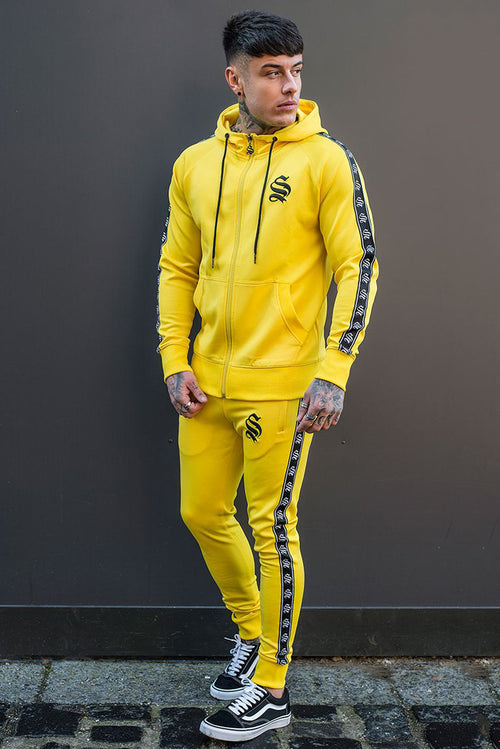 Sinners Attire Poly Tracksuit Joggers Yellow