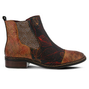 Woodland Embossed Leather Bootie