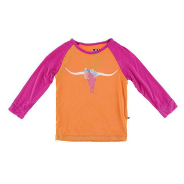 Tailored Fit Raglan Tee (Long Sleeve) - Apricot Long Horn