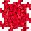Pix Brix - Medium Red 250 Pieces