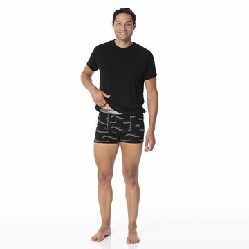 Men's Boxer Briefs - Midnight Electric Eels
