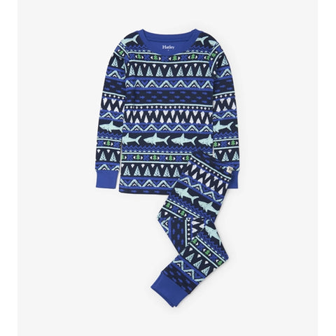 2 Piece Pajama - Fair Isle Shark