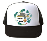 Bubu - Snacks N Naps White / Black Trucker Hat