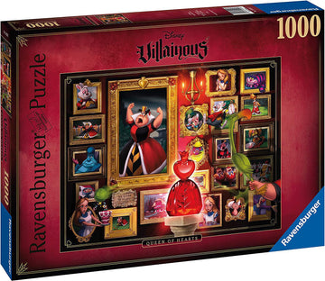 Puzzle - Disney's Villainous: Queen of Hearts - 1000 Piecese