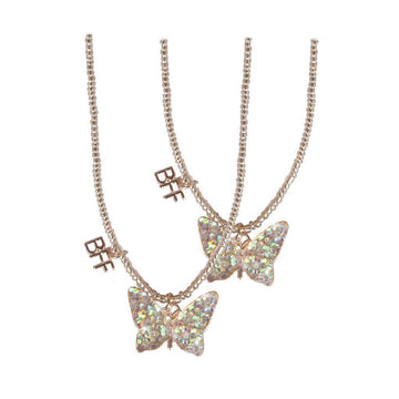 Necklace - Butterfly Tear and Share BFF 2 Piece Set