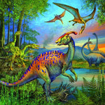 Puzzle - Dinosaur Fascination - 49 Piece Puzzles (Set of 3)