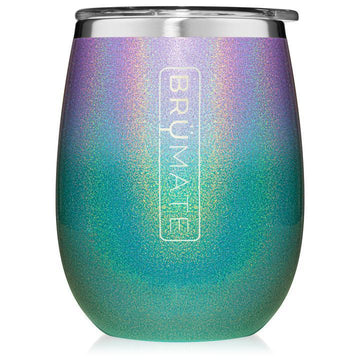 Drinkware -  Insulated Wine Glass Glitter Mermaid