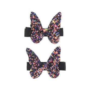 Hair Clip - Glitter Rockstar Butterly Set of 2 (assorted colors)