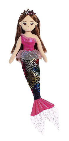 Mermaid Doll - Sea Sparkles Jungle Fushia Cheetah
