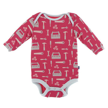 Onesie (Long Sleeve) - Flag Red Construction
