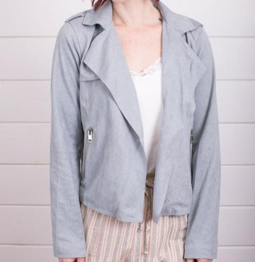 Women's Top - Mystree Blazer Light Blue