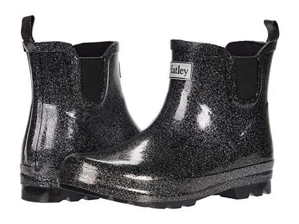 Rain Boot (ankle) - Starry Night Glitter