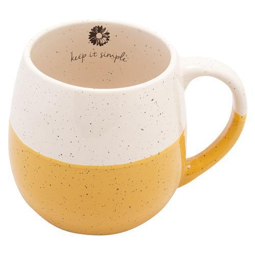 Mug (Ceramic) - Daisy Keep It Simple Dip