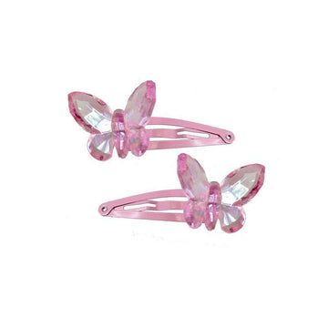 Hair Clip - Fancy Flutter Butterfly Set of 2 (assorted colors)