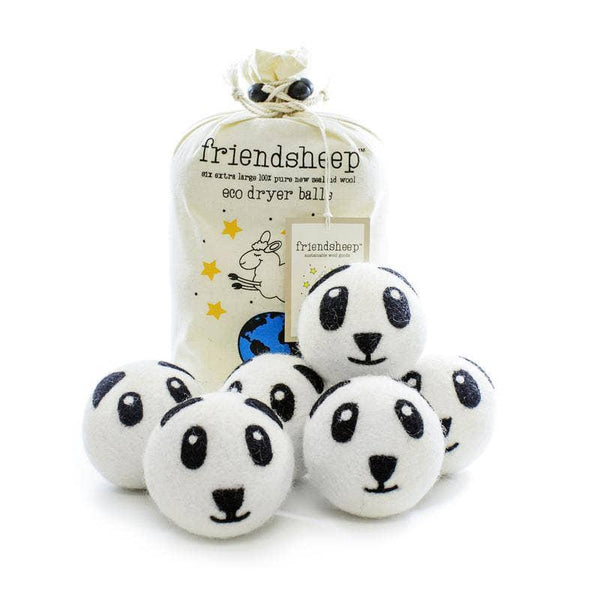 Dryer Balls - Panda 6 Pack