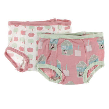 Training Pants Set - Natural Apples and Strawberry Milk
