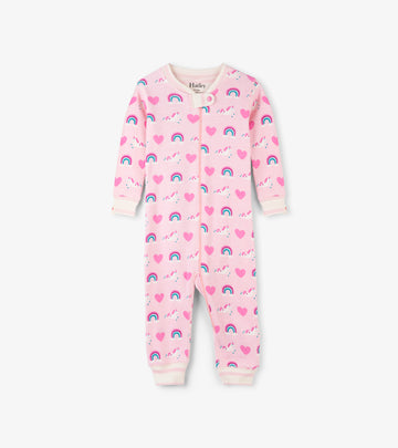 Coverall (Organic Cotton) - Unicorns and Rainbows