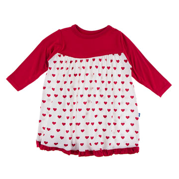 Swing Dress (Long Sleeve) - Natural Hearts (2nd Delivery)