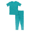 2 PIece Pajama (Short Sleeve) - Neptune Mini Seahorses