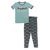 2 PIece Pajama (Short Sleeve) - Stone Paddles and Canoe