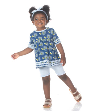 Baby Doll Outfit Set (Short Sleeve) - Navy Cornflower and Bee