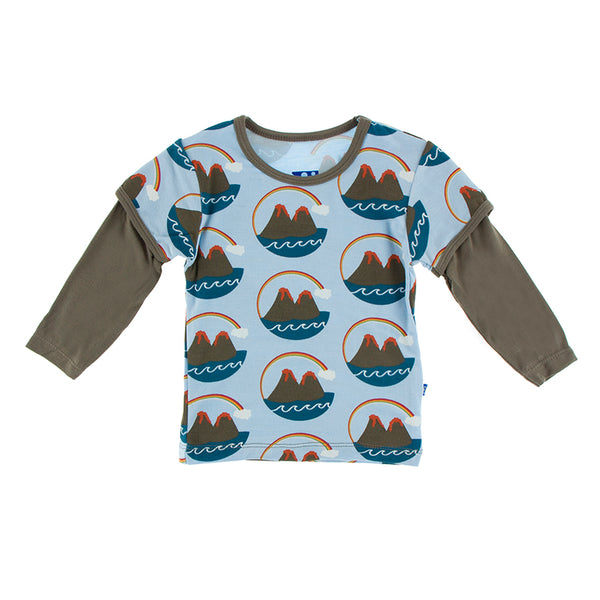 Double Layer Tee (Long Sleeve) - Pond Volcano
