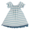 Last One: Size  4T - Gathered Dress - Boy Desert Stripe