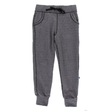Tailored Fit Fleece Tapered Sweatpants - Heathered Zebra